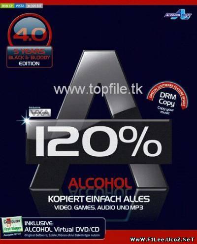 Скачать Alcohol 120% 1.9.8.7612 RETAiL + crack (patch) for Windows 7…